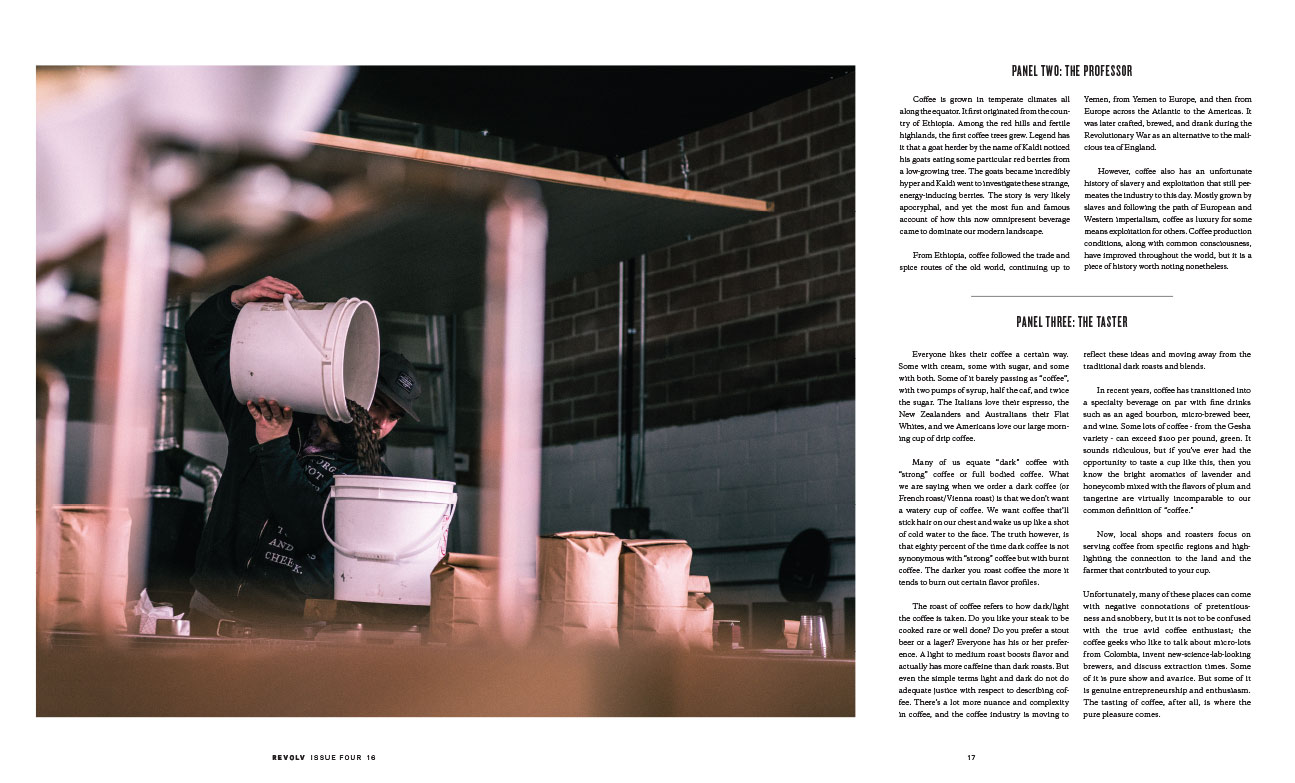 Coffee Editorial for Revolv Magazine