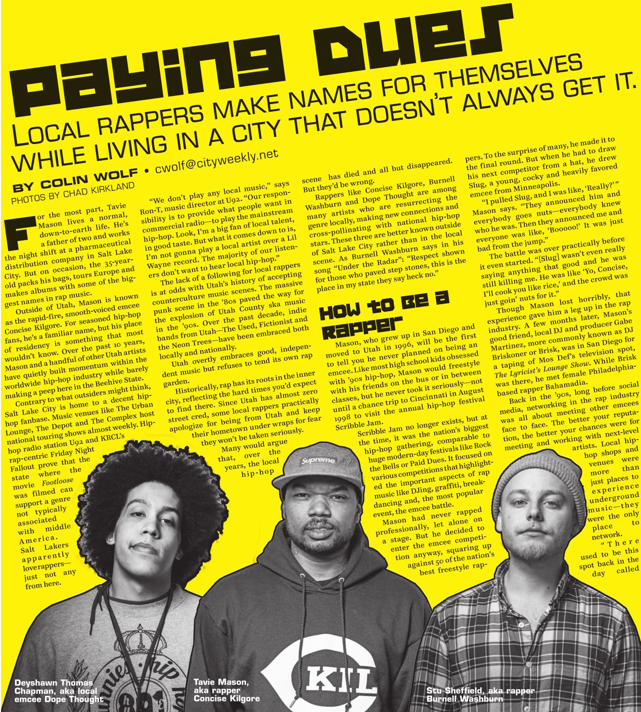 Salt Lake City Weekly De La Soul inspired hip hop issue